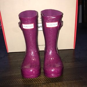 Other - Purple glitter Hunter boots